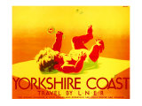 Yorkshire Coast, LNER Poster, 1923-1947 Giclee Print by Tom Purvis