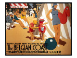 The Belgian Coast Giclee Print by Frank Newbould