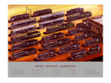 British Railways Locomotives, BR Poster, circa 1950s Giclee Print by A N Wolstenholme