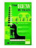 Visit Kew by Train Giclee Print