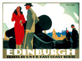 Edinburgh: Mons Meg, LNER Poster, circa 1935 Giclee Print by Frank Newbould