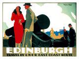 Edinburgh: Mons Meg, LNER Poster, circa 1935 Giclee Print by Frank Newbould
