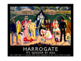 Harrogate, LNER Poster, 1934 Giclee Print by Anna Katrina Zinkeisen