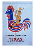France comes to Texas, 1957 Giclee Print by Raymond Savignac