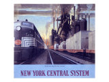 Ny Central Water Level Route Poster Giclee Print by Raymond Savignac