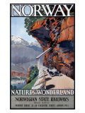 Nature's Wonderland Norwegian State Railway Giclee Print by A J Green