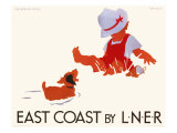 East Coast by LNER, LNER Poster, circa 1935 Giclee Print by Tom Purvis
