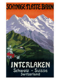 Interlaken Swiss Railway Poster, circa 1930s Giclee Print