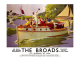 The Broads, LNER/LMS Poster, 1937 Giclee Print by Arthur C Michael