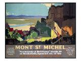 Mont St. Michel, SR Poster, 1932 Reproduction procédé giclée par Leonard Richmond