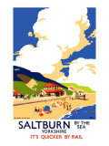 Saltburn-By-The-Sea, LNER Poster, 1923-1947 Giclee Print by Frank Newbould