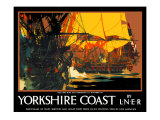 Yorkshire Coast Giclee Print by Frank Mason