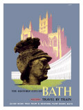 The Historic City of Bath, BR (WR) Poster, 1958 Giclee Print by E Lander
