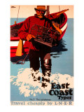 The Lobsterman, LNER Poster, 1923-1947 Giclee Print by Frank Newbould