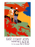 East Coast Joys, LNER Poster, 1931 Giclee Print by Tom Purvis