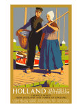 Holland Via Hull-Rotterdam, LNER Poster, 1923-1947 Giclee Print by Templeton