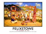 Felixstowe, It's Quicker by Rail Giclee Print by W.r.s. Stotto