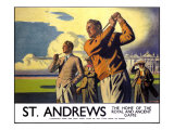 St. Andrews, LNER Poster, 1933 Giclee Print by Arthur C Michael