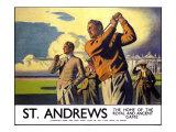 St. Andrews, LNER Poster, 1933 Giclee Print by Arthur C Michael