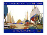 Getting Ready on the East Coast Giclee Print by Frank Mason