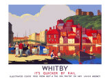 Whitby: Its Quicker by Rail Giclee Print by Alo (Charles-Jean Hallo)
