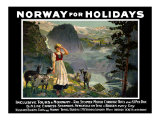 Norway for Holidays, B&N Line Poster, circa 1930s Giclee Print