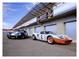 1964 Shelby Daytona Coupe & 1969 Ford GT-40 Giclee Print by David Newhardt
