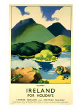 Ireland for Holidays, Killarney Giclee Print by Clodagh Sparrow