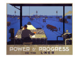 Power & Progress on the LNER, LNER Poster, 1930 Giclee Print by Henry George Gawthorn