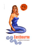 Eastbourne, Suntrap of the South, BR Poster, 1961 Giclee Print by Pursell 