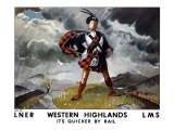 Western Highlands, LNER/LMS Poster, 1934 Giclee Print by Doris Clare Zinkeisen