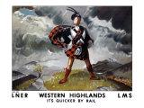 Western Highlands, LNER/LMS Poster, 1934 Giclee Print by Doris Clare Zinkeisen