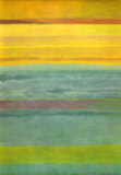 Layered Yellow and Green Abstract Prints by Marie C. Wattin