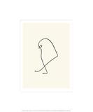 Sparven, ca 1907 Screentryck av Pablo Picasso