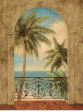 Palm Archway Prints by Jill Schultz McGannon
