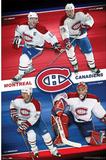 Montreal Canadiens (Saku Koivu, Michael Ryder, Alexei Kovalev, Cristobal Huet) Poster