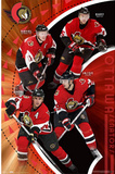 Ottawa Senators (Daniel Alfredsson, Dany Heatley, Jason Spezza, Wade Redden) Posters