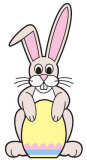 Easter Bunny with Egg Sign Board Lifesize Standup Cardboard Cutouts