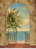 Palm Terrace Print by Jill Schultz McGannon