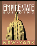 Edificio Empire State Lámina por Brian James