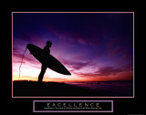 Excellence: Male Surfer Affiches