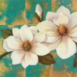 Aqua Floral I Prints by T. C. Chiu