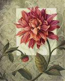 Trellised Dahlia Art by Lisa Audit