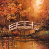 Wooden Bridge Kunstdruck von T. C. Chiu