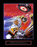 Breakaway: Slap Shot Prints by Bill Hall