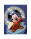 Sorcerer Mickey: Fantasia Magic Art