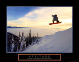 Figure de snowboarder Affiche