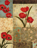 Poppy Damasque Prints by T. C. Chiu
