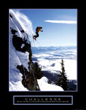Challenge: Skier Schilderij