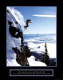 Herausforderung: Skifahrer Poster